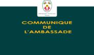 [Communiqué 2021] Réaménagement des horaires de l'Ambassade et du Service consulaire